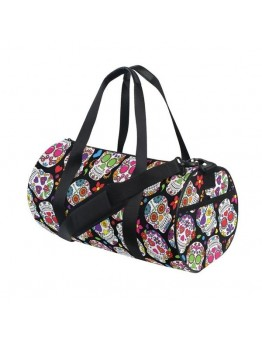 Skull Printing Canvas Gym, Sport, Outdoor Casual Tote Shoulder Bag