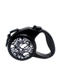 Retractable Leash Skull Pattern For Medium Large Dogs